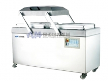Double-groove vacuum sealing and packaging machines